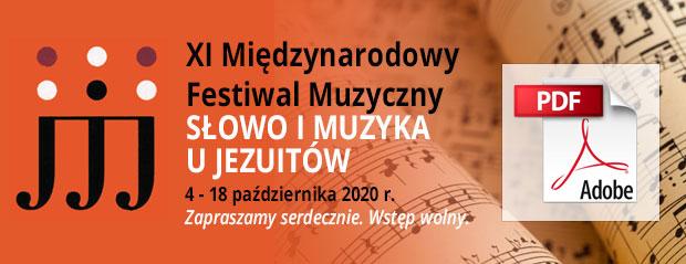 Program XI Festiwalu Słowo i Muzyka u Jezuitów